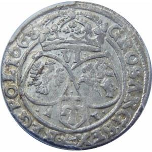 Jan II Kazimierz, Szóstak Kraków 1663 AT – z obwódkami