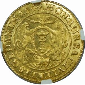 Jan II Kazimierz, Dukat Gdańsk 1649 GR
