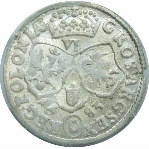 Jan III Sobieski, Szóstak Bydgoszcz 1682 TLB – herb Leliwa