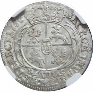 August III Sas, szóstak Lipsk 1756 EC