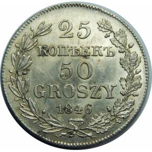 25 kopiejek = 50 groszy Warszawa 1846 MW