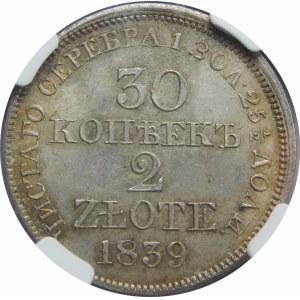 30 kopiejek = 2 złote Warszawa 1839 MW