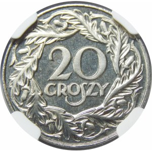 20 groszy 1923 STEMPEL LUSTRZANY