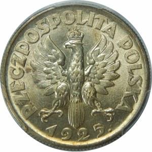 2 złote 1925 Żniwiarka, Londyn, po dacie kropka