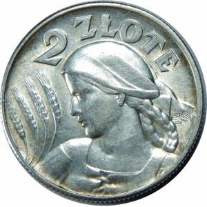 2 złote 1925 Żniwiarka, Filadelfia, bez kropki po dacie