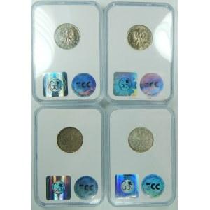 Zestaw 4 sztuk monet Żaglówki i Głowy kobiety