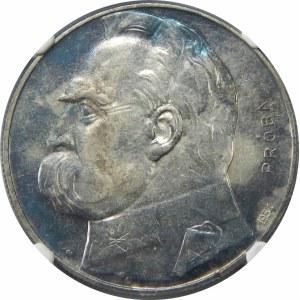 PRÓBA 10 złotych 1934 Piłsudski Strzelecki