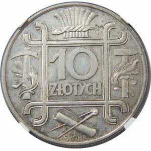 PRÓBA 10 złotych 1934 KLAMRY