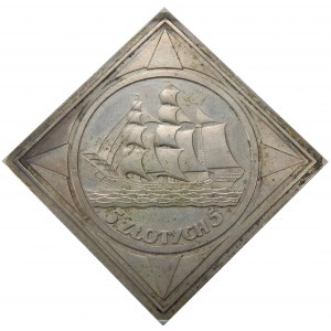 PRÓBA KLIPA LUSTRZANA 5 złotych 1936 ŻAGLOWIEC