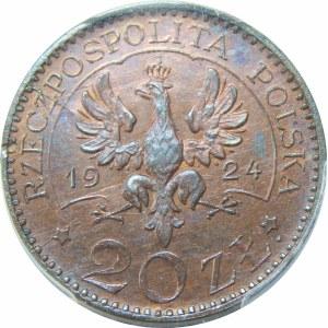 PRÓBA 20 złotych 1924 MONOGRAMY