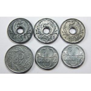 Zestaw 6 monet Generalna Gubernia