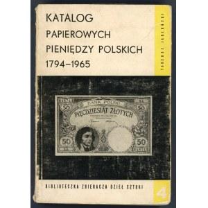 Jabłoński Katalog papierowych pieniędzy polskich 1794-1965