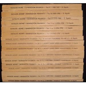 Kopicki, Katalog podstawowych typów monet .... (Tomy II-IX)