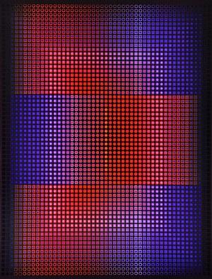 Paweł Wąsowski, Confluentis Triplex, 2017 akryl, płótno, 130 x 100 cm, sygn.
