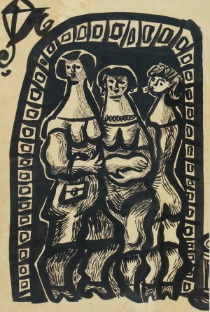 Jan MŁODOŻENIEC (1929-2000), Trzy gracje, 1957