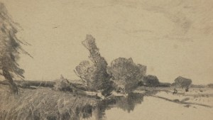 Roman Kazimierz KOCHANOWSKI (1857-1945), Pejzaż z rzeką