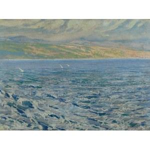 Ludwik de LAVEAUX (1891 Frysztak - 1969 Londyn), Żaglówki na Morzu Śródziemnym, 1931