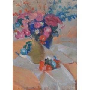 Michał BORUCIŃSKI (1885-1976), Bukiet kwiatów w wazonie