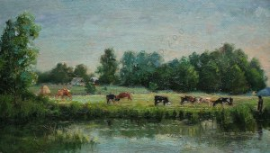 Kazimierz Lasocki (1871-1952), Krowy na pastwisku