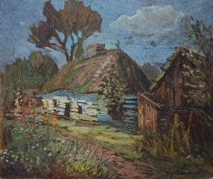 Jerzy Potrzebowski (1921-1974), Pejzaż z chatą