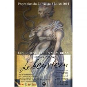 """Plakat z wystawy """"Jan Lebenstein. In memoriam"""", Paryż 2014"""