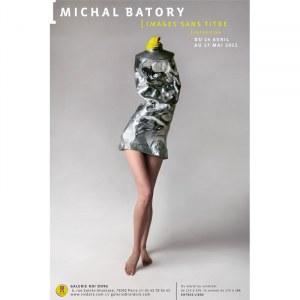 """Michał Batory, plakat z wystawy """"Michał Batory. Obrazy bez tytułu"""", Paryż 2011"""