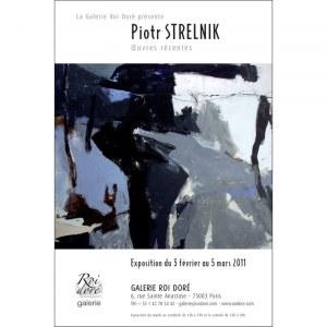 """Plakat z wystawy """"Piotr Strelnik. Œuvres récentes"""", Paryż 2015"""