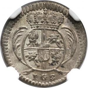 August II Mocny, 3 halerze 1729 IGS, Drezno