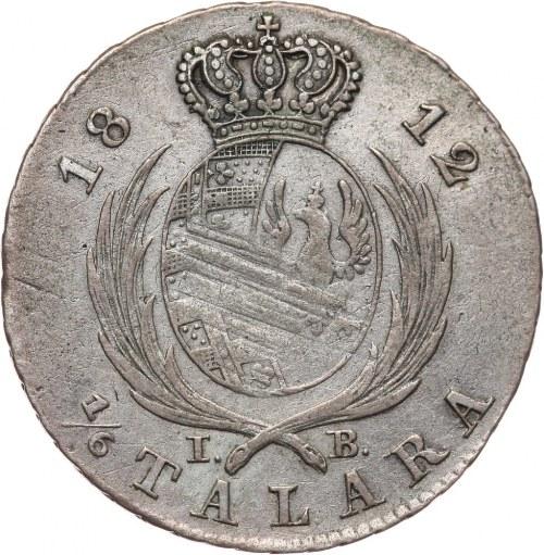 Księstwo Warszawskie, Fryderyk August I, 1/6 talara 1812 IB, Warszawa