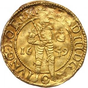 Netherlands, Kampen, ducat 1649, with title of Ferdinand III