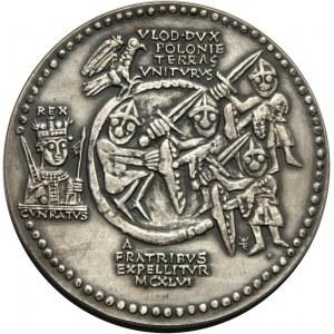 PRL, Seria królewska PTAiN, medal, Władysław II Wygnaniec, SREBRO