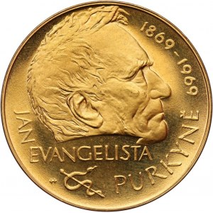 Czechoslovakia, Gold medal 1969, Kremnitz, Jan Evangelista Purkyně