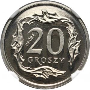 III RP, 20 groszy 1990, PRÓBA, nikiel