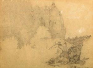 Wojciech Gerson (1831 Warszawa – 1901 tamże) Pejzaż ze skałami, 1853 r.