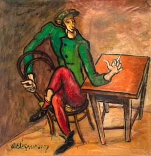Stanisław Eleszkiewicz (1900 Czutowo k. Połtawy – 1963 Paryż) Mężczyzna przy stole