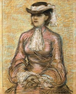 Stanisław Eleszkiewicz (1900 Czutowo k. Połtawy – 1963 Paryż) Portret kobiety w kapeluszu