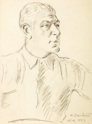 Henryk Berlewi (1894 Warszawa – 1967 Paryż) Portret mężczyzny, 1943 r.