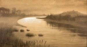 Stanisław Fabijański (1865 Paryż – 1947 Kraków) Widok Wisły w Krakowie, 1919 r.