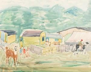 Władysław Brzosko (1912 Czyta/Syberia-2011 Arizona) Cyrk w Sopocie, 1951 r.