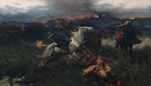 Józef BRANDT (1841-1915), Potyczka, ok. 1908