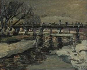 Stanisław BORYSOWSKI (1906-1988), Motyw zimowy z mostem, 1931