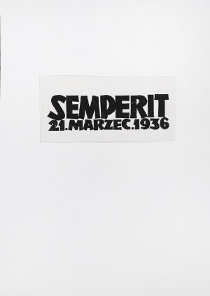 Jonasz STERN (1904-1988), Zestaw 5 grafik z cyklu: Semperit. 21 Marzec 1936