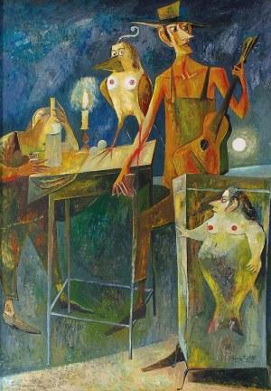 """Iwan KULIK (ur. 1959), Ilustracja do """"Mistrza i Małgorzaty"""" Michaiła Bułhakowa, 2003"""