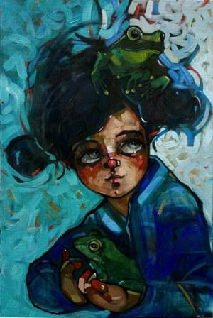 Magdalena Połacik, Portret Georginki z żabami (2019)