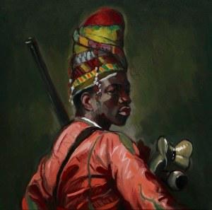 "Sławomir J. Siciński, Studium do obrazu Jean-Léona Gérôme'a  ""Czarny Bashi-Bazouk"" (2018)"