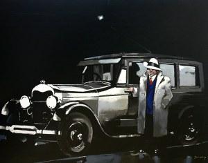 """Waldemar Świerzy (1931 Katowice-2013 Warszawa) One way trip, z serii """"Gangsterzy"""