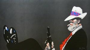 """Waldemar Świerzy (1931 Katowice-2013 Warszawa) The Boss, z serii """"Gangsterzy"""