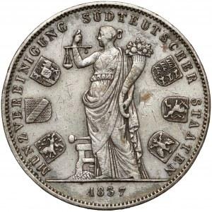 Niemcy, Bawaria, Dwutalar 1837 - Unia monetarna