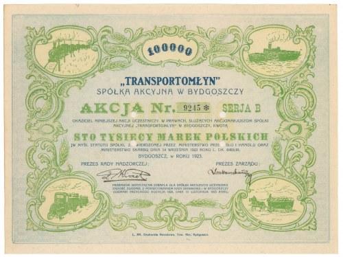 Transportmłyn, 100.000 mkp 1923
