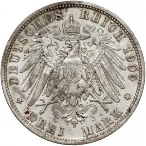 Niemcy, Bawaria, 3 marki 1909-D